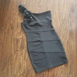 XXI Stunning One Shoulder Black Cocktail Dress